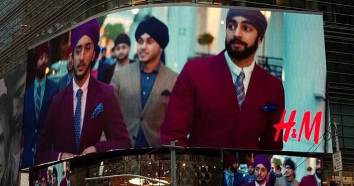 sikh models grace h u0026m u0026 39 s times square billboard