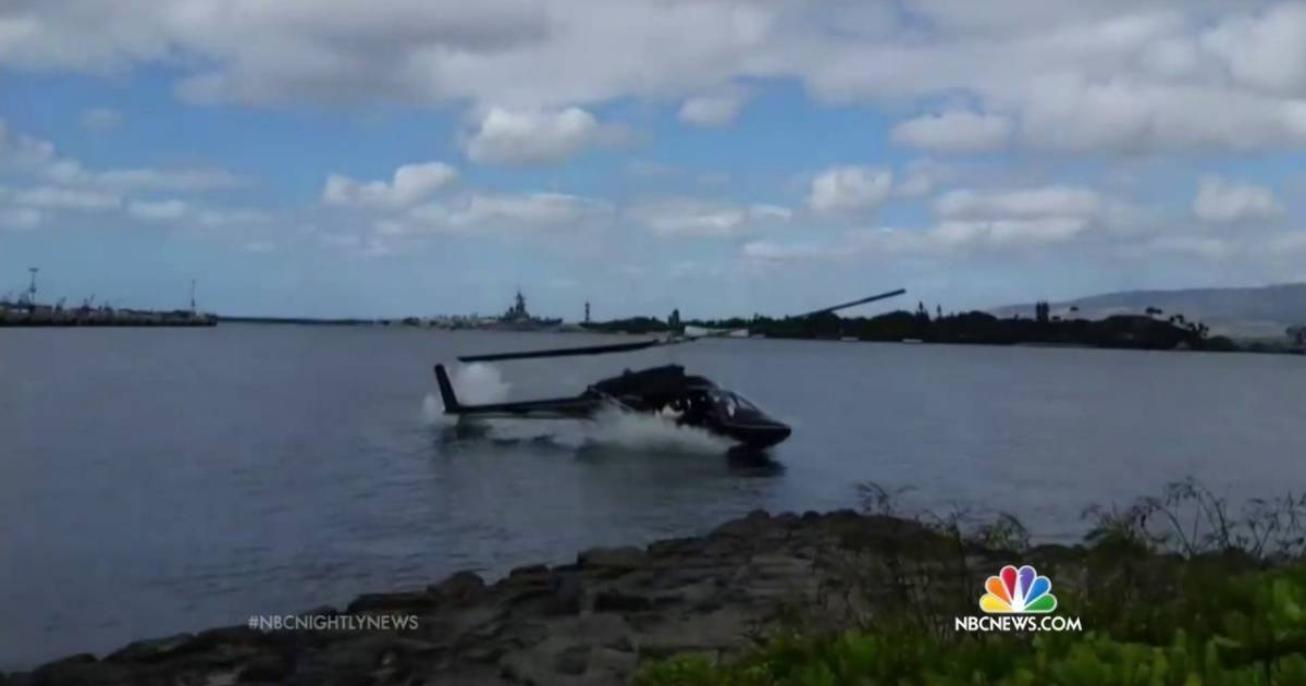 Honolulu Tourist Helicopter Crashes in Pearl Harbor