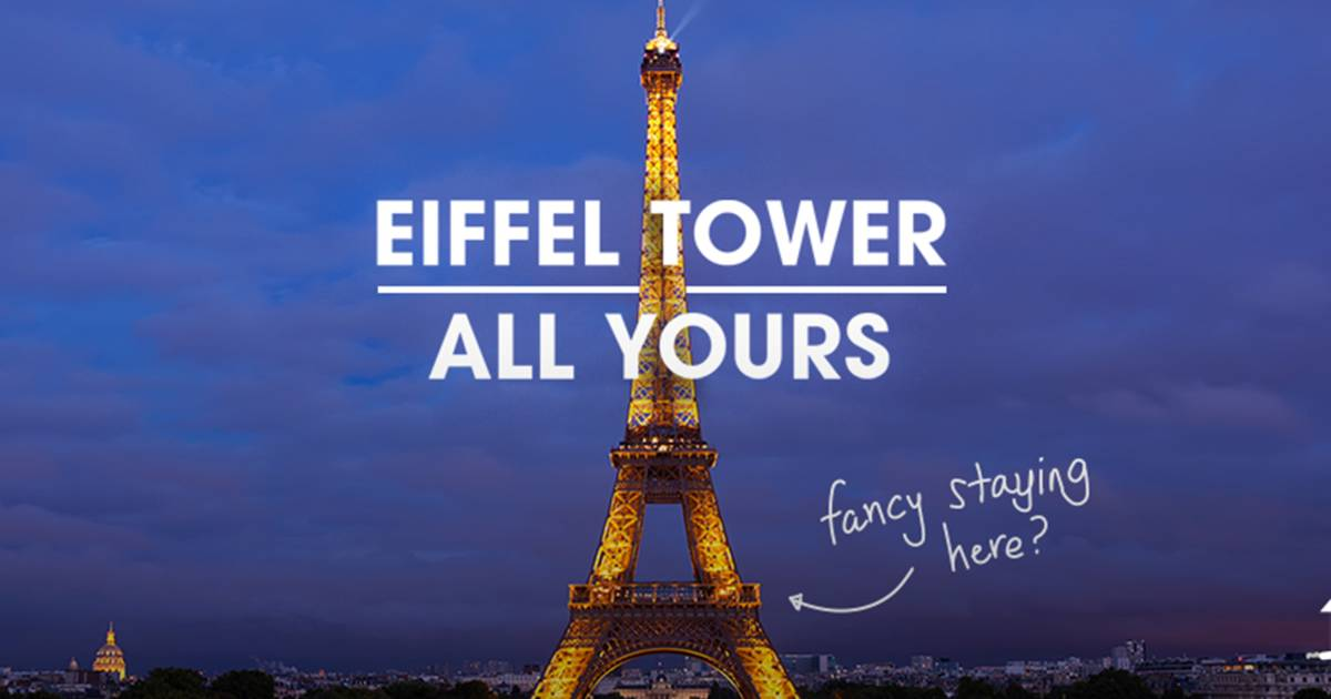 Eiffel tower here 39 s how you can rent it through homeaway for Overnight stay in paris