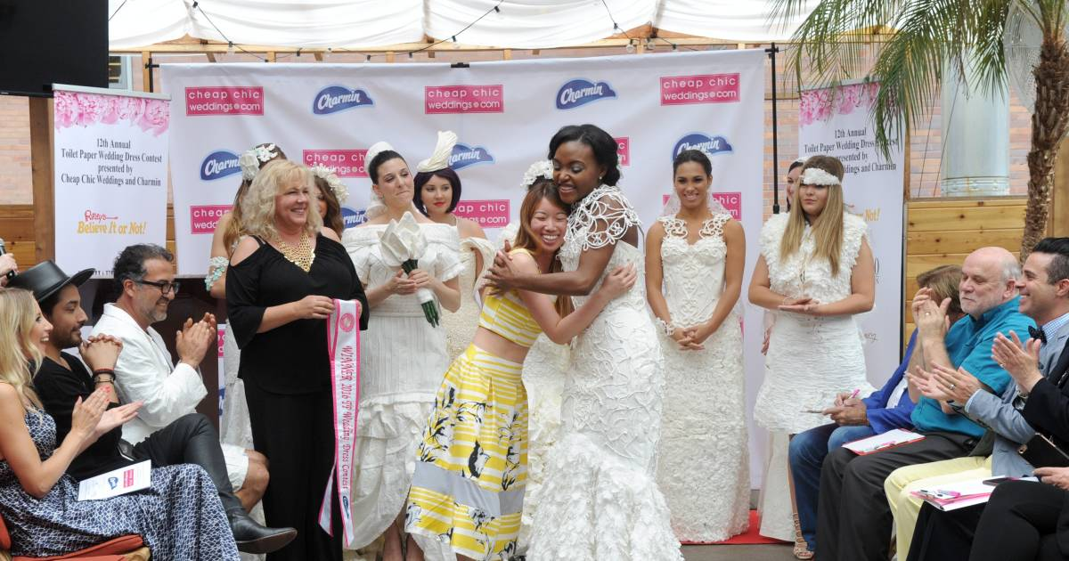 Cheap Wedding Dresses Brooklyn Ny: On A Roll: Meet The Winner Of The Toilet Paper Wedding