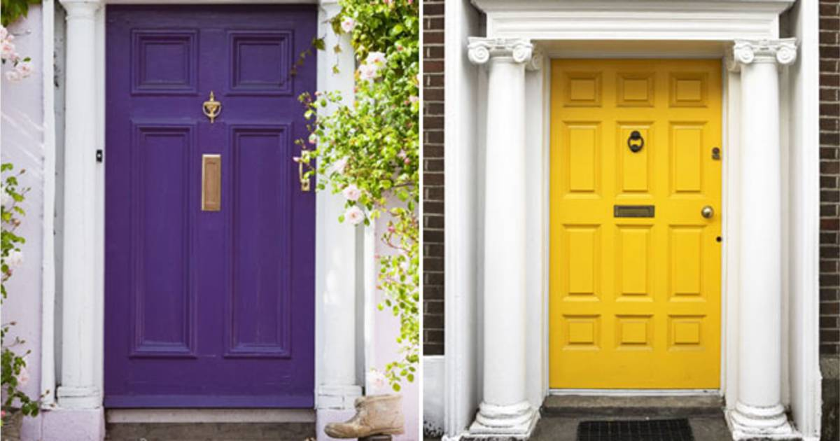& These colorful front doors add instant curb appeal