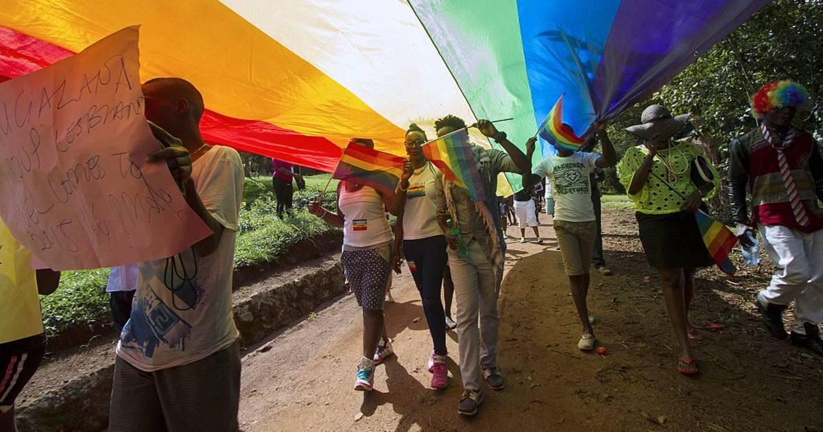 Ugandan police broke up a gay pride event in