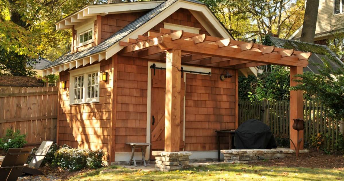 Backyard Shed Transformed To Look Like Family House