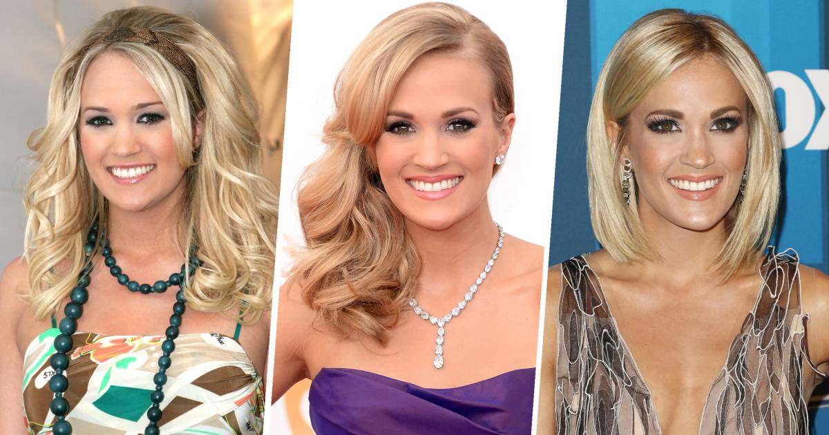 Carrie underwood 39 s hair evolution from 39 american idol 39 to for Who is carrie underwood married too