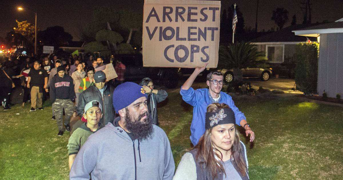Protests in Anaheim, California, After Off-Duty Cop Fires Gun During Clash With Teens