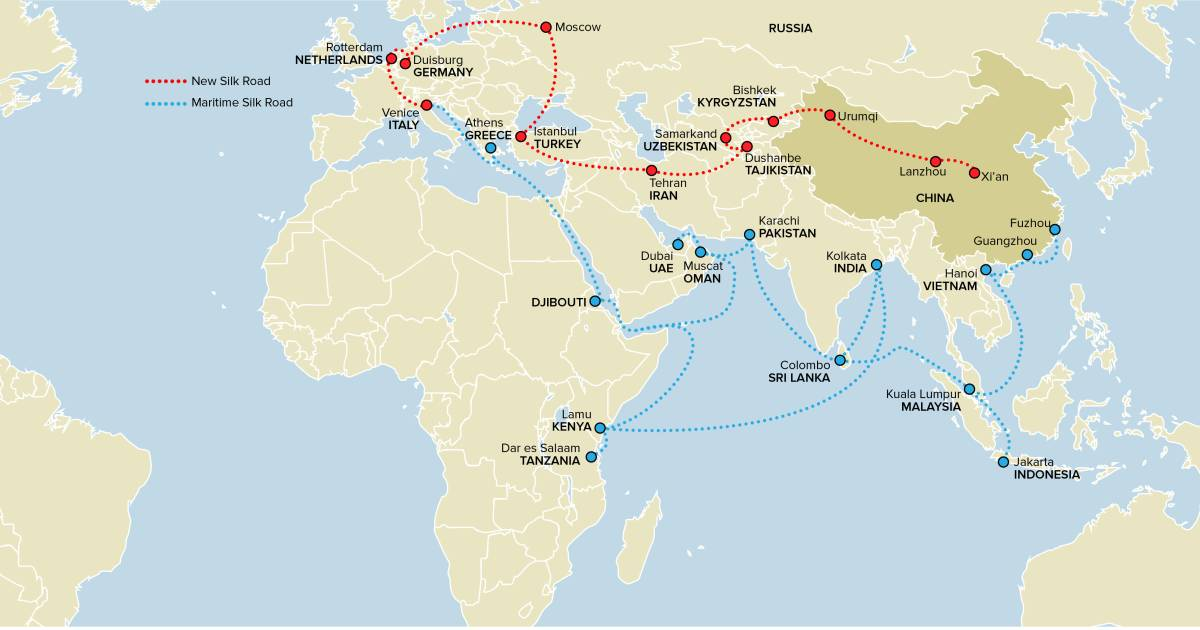 Belt and road initiative china plans 1 trillion new silk road gumiabroncs Gallery