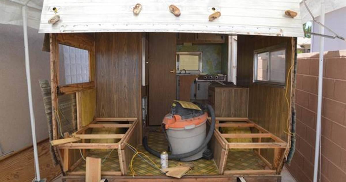 Tiny trailer home makeover