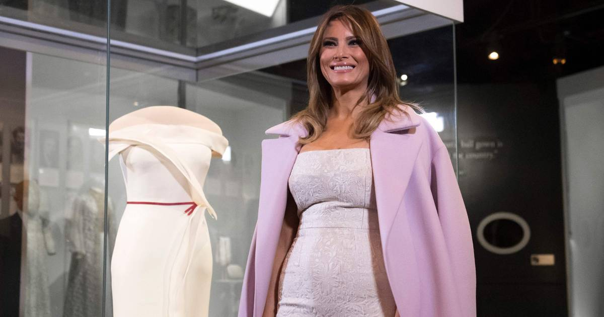 First Lady Melania Trump Donates Her Inaugural Gown To The Smithsonian-5664