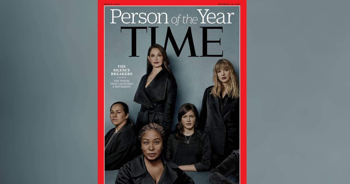 Time Person Of The Year 2006 Cover >> Time's person of the year is 'The Silence Breakers' of #MeToo movement