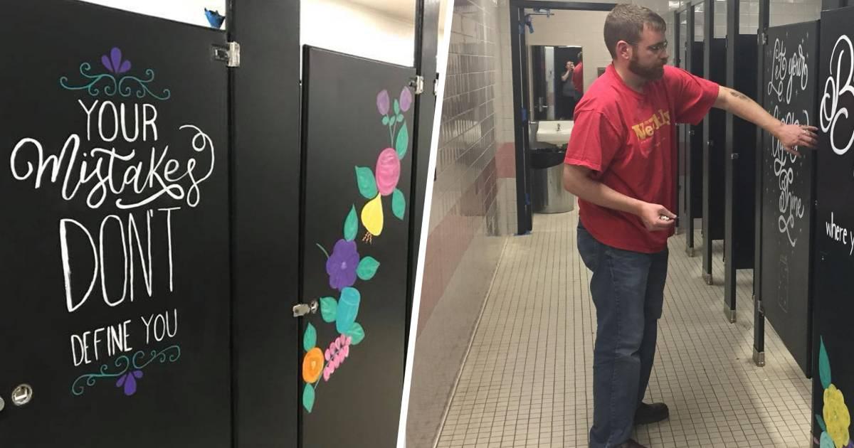 Parents Paint School Bathrooms To Help Kids Look For Joy