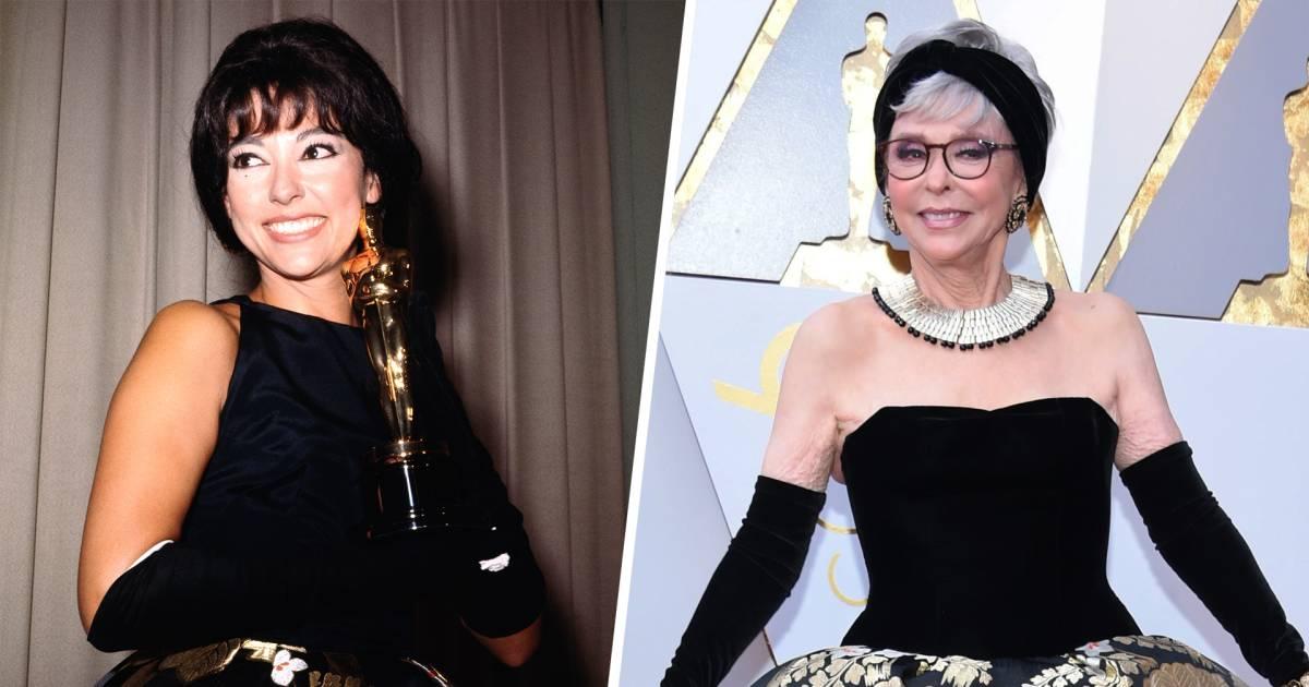 Rita Moreno wears same dress to Oscars as she wore to 1962 ...