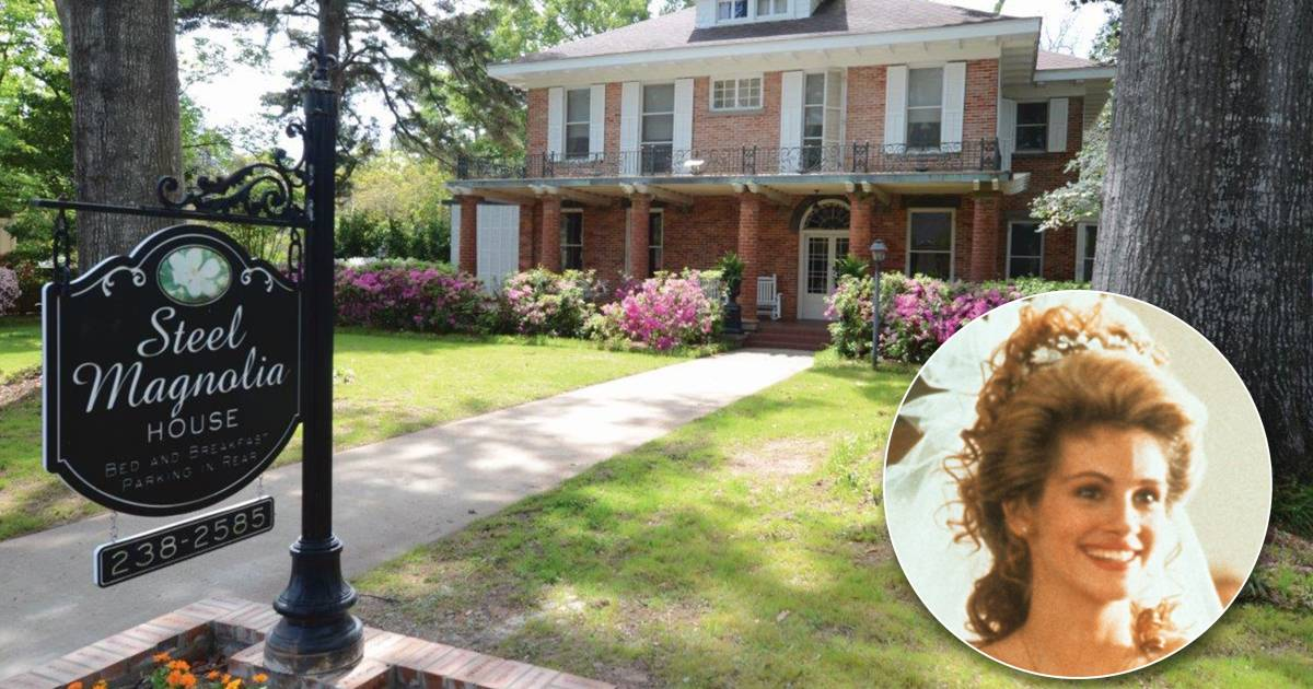 The 'Steel Magnolias' house is a charming B&B (and Shelby's room is most popular)