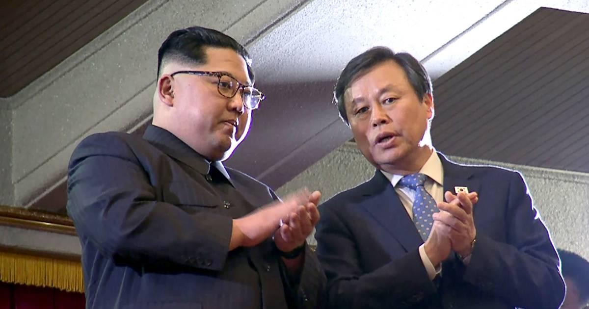 kim jong un and his wife watch south korean k