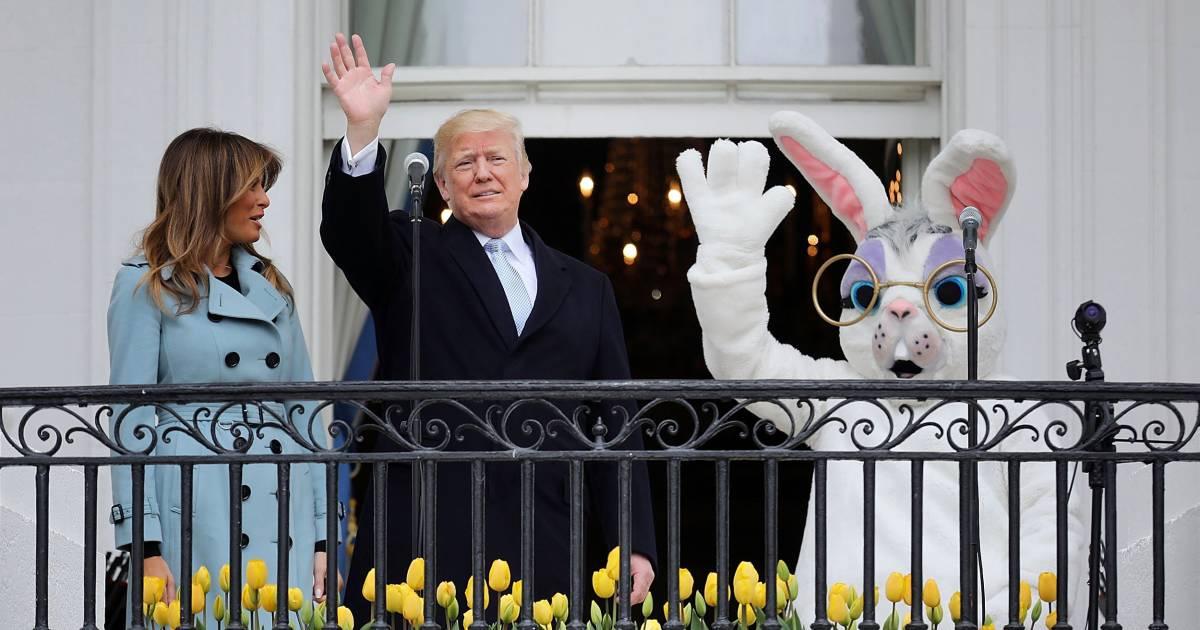 trump kicks off white house annual easter egg roll. Black Bedroom Furniture Sets. Home Design Ideas