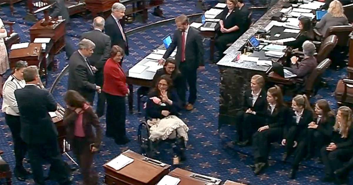 Senator S Baby Makes History By Showing Up For A Vote