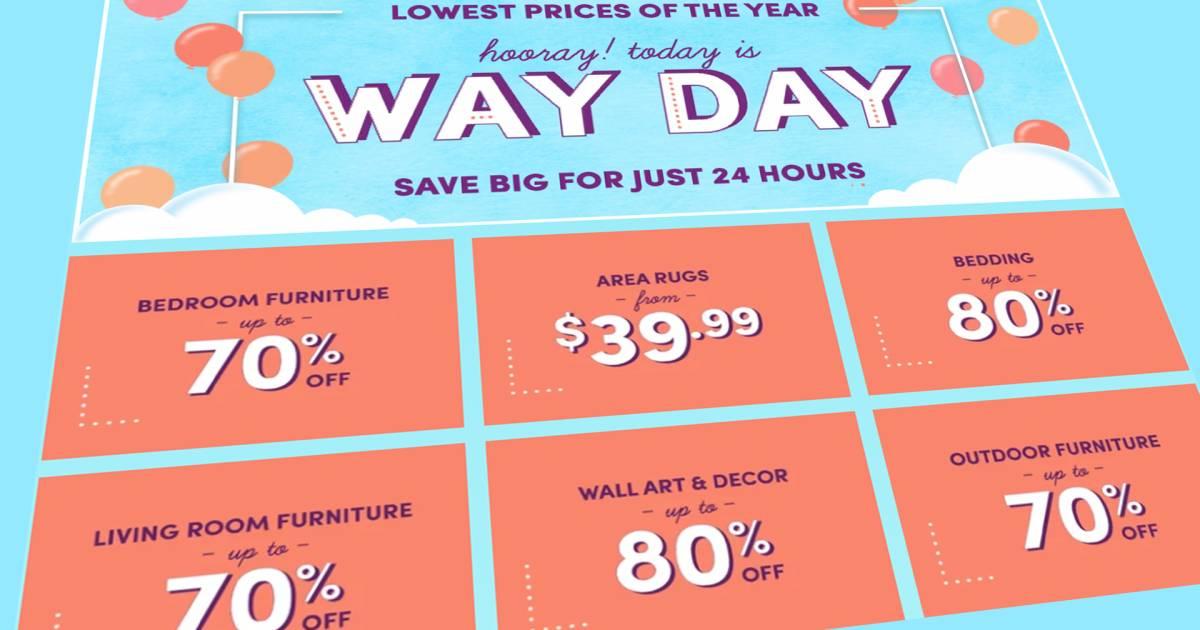 Hurry Wayfair S Huge Way Day Sale Is Happening Right Now