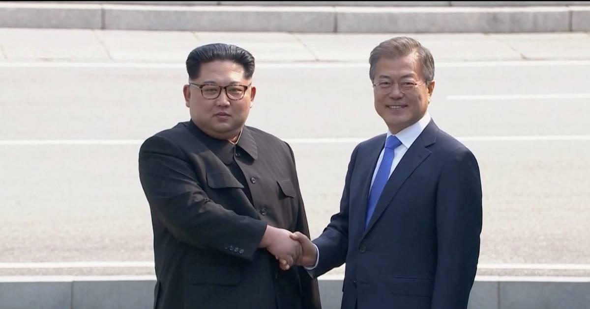 North Korea's Kim Jong Un crosses border for historic talks