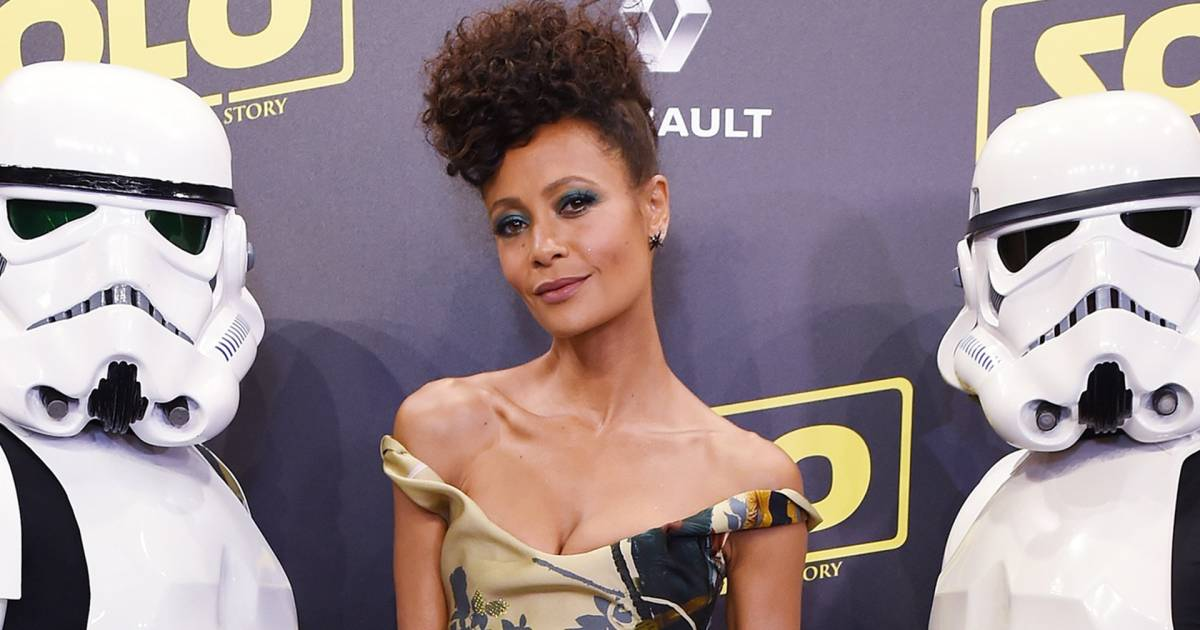 Thandie Newton pays tribute to black 'Star Wars' characters with Cannes dress
