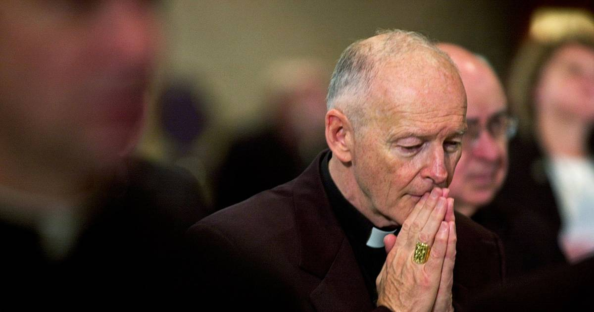 Cardinal Theodore McCarrick resigns from College of ... Theodore Mccarrick
