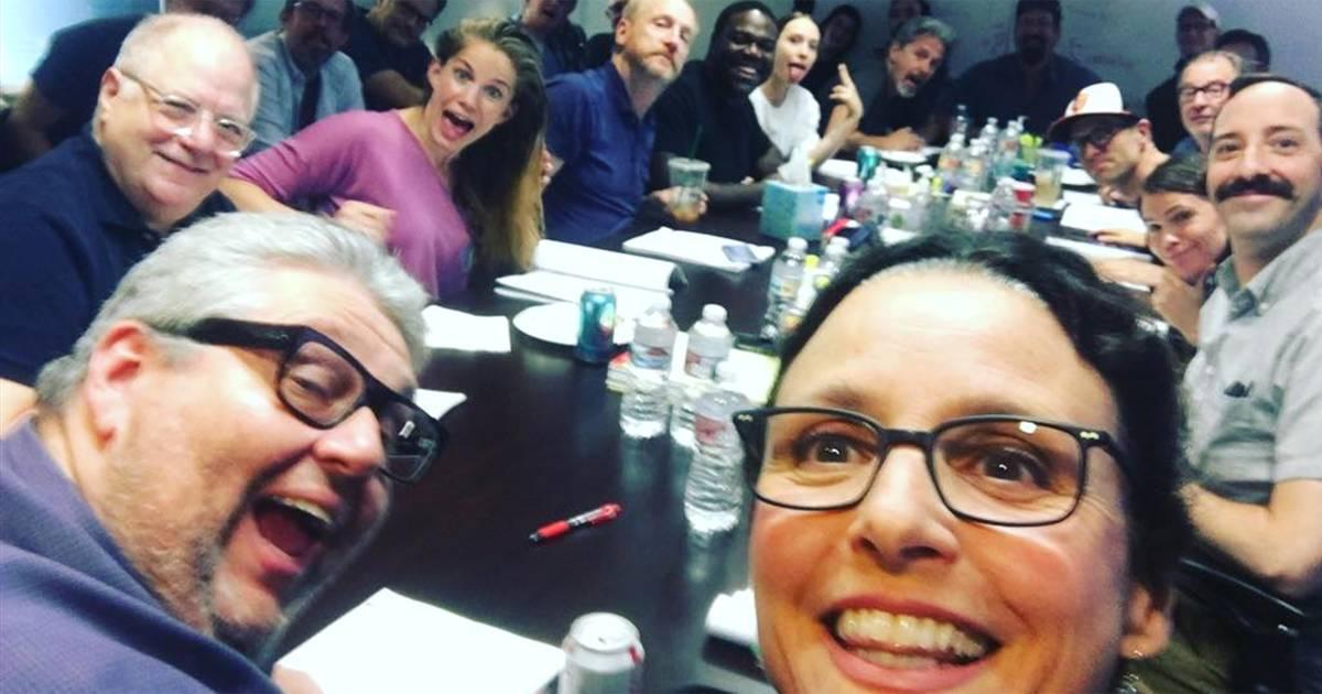 Julia Louis-Dreyfus returns to work on 'Veep' after breast cancer battle