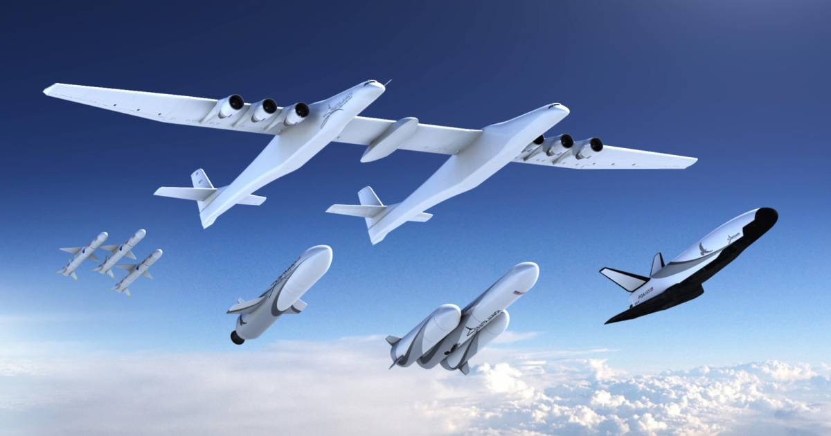 Billionaire readies world's largest plane to launch rockets into space