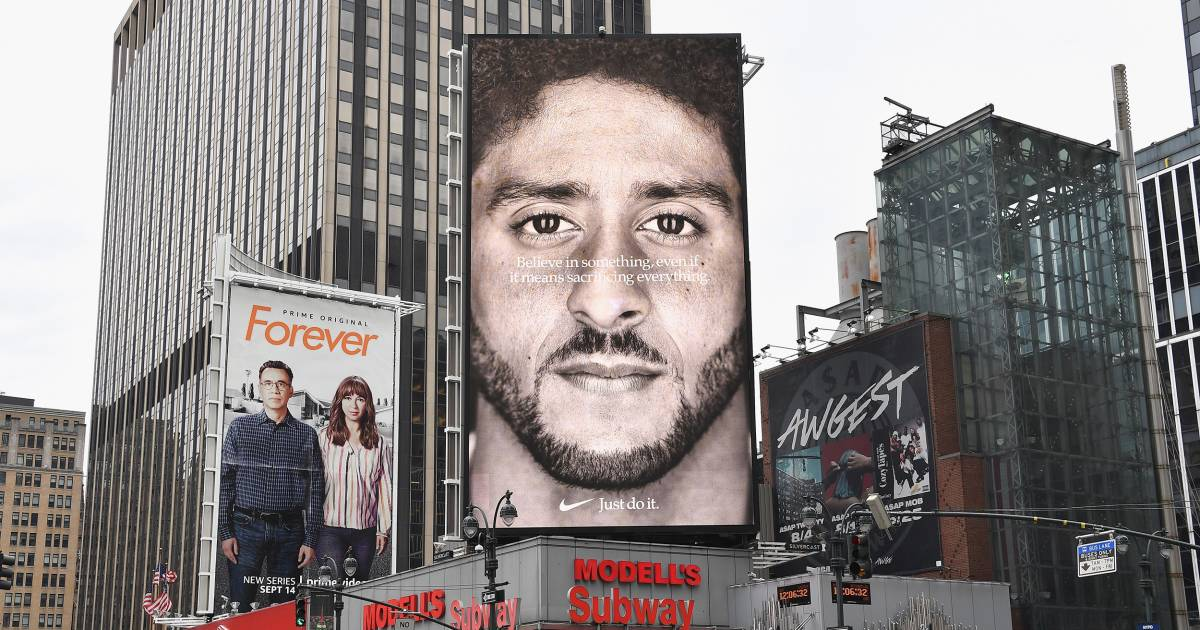 Nike sales are up 31 percent as fans buy into Kaepernick as spokesman