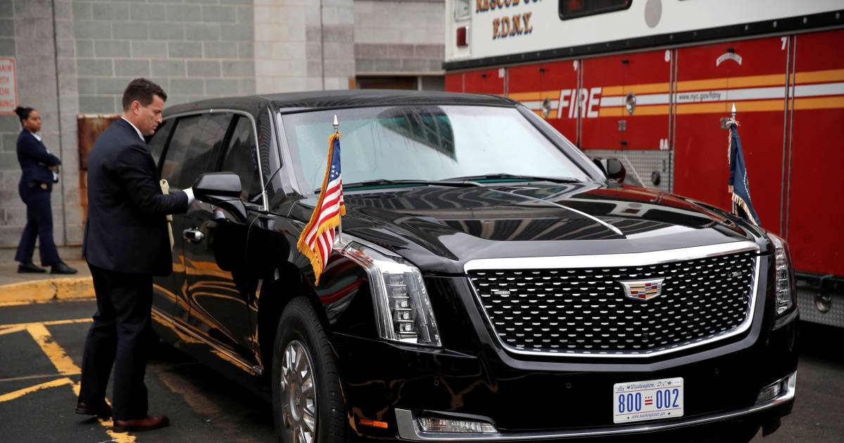 Trump's new limo cost $16M and comes with a fridge of his blood type