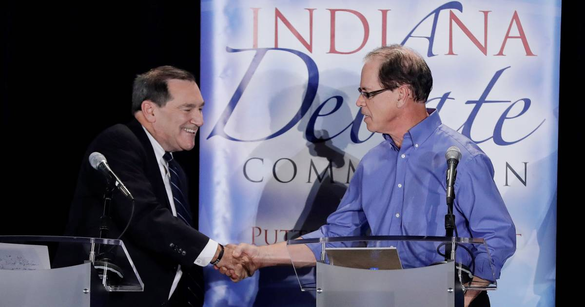 Democrat Donnelly boasts about supporting Trump at Indiana Senate debate