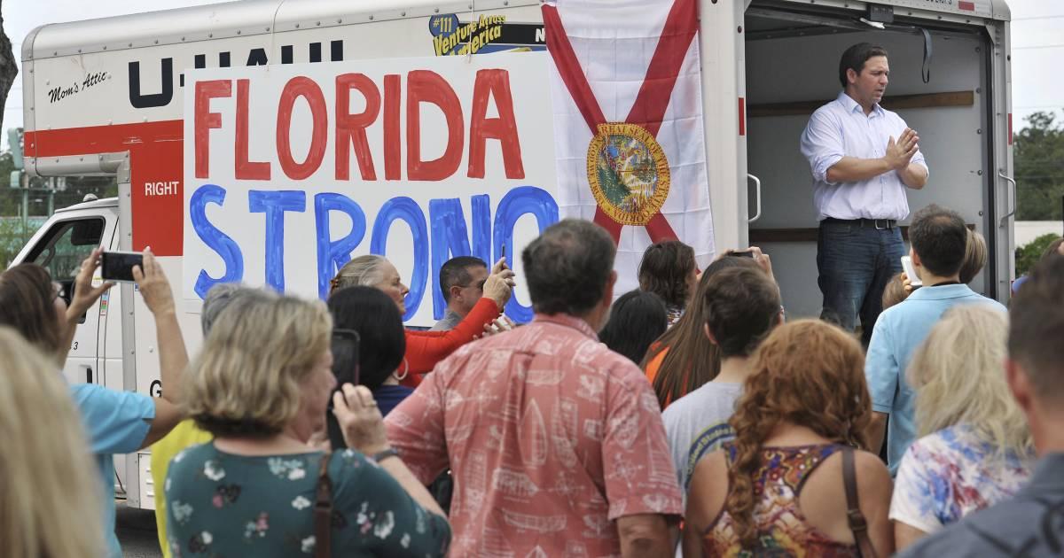 Florida governor race roars on, despite Hurricane Michael