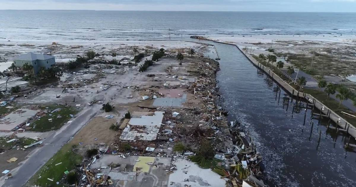 Drone footage shows Hurricane Michael ravaged Florida town where it made landfal...