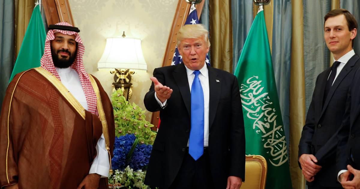 president trump with a saudi man