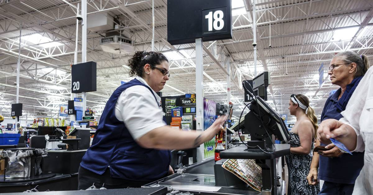 When customers can skip the cashier line, what happens to the cashiers?