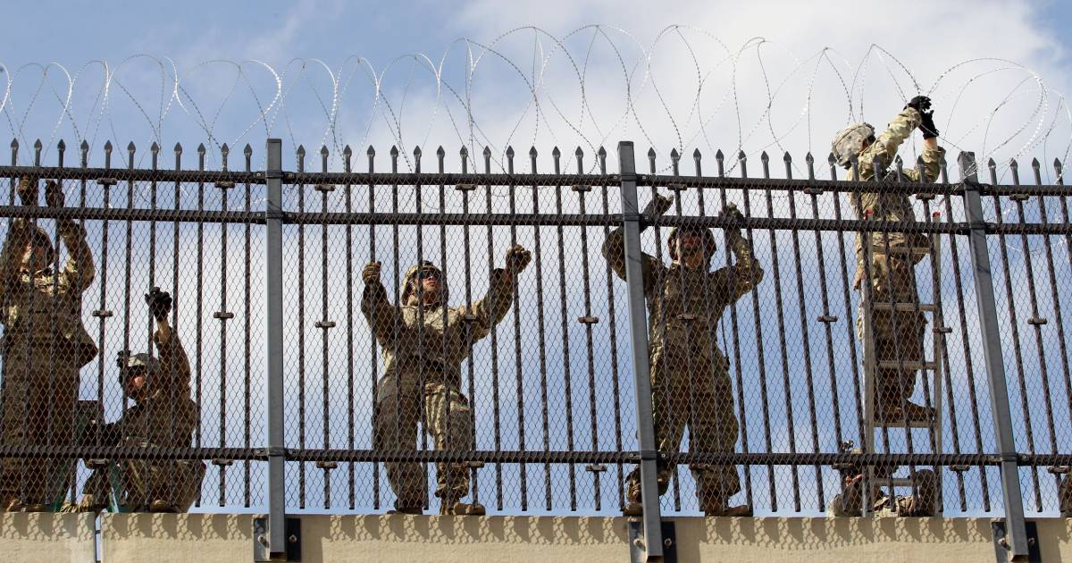More than 5,600 active troops are being swept across the southern border of the United States