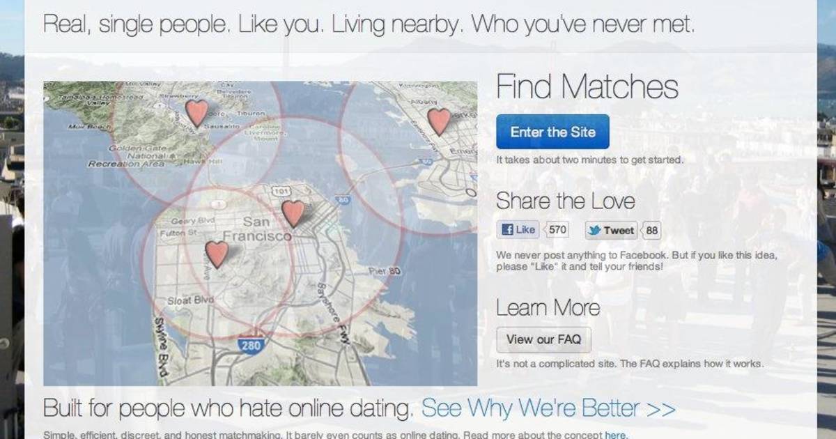 Dating site linked to facebook