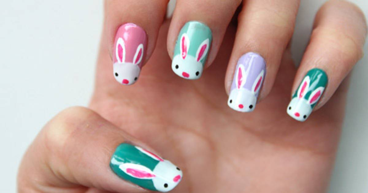 Eggs! 10 D-I-Y Easter nail art designs - Bunnies! Eggs! 10 D-I-Y Easter Nail Art Designs