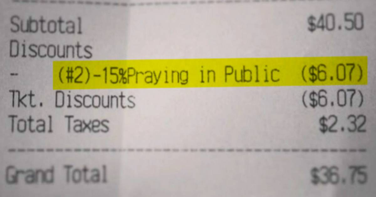 Dining discount: Restaurant offers 15 percent off if you pray