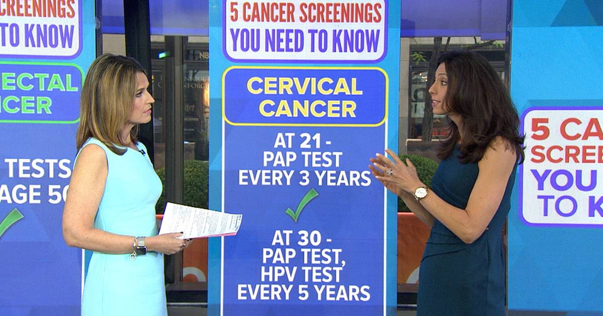 New cancer screening recommendations released