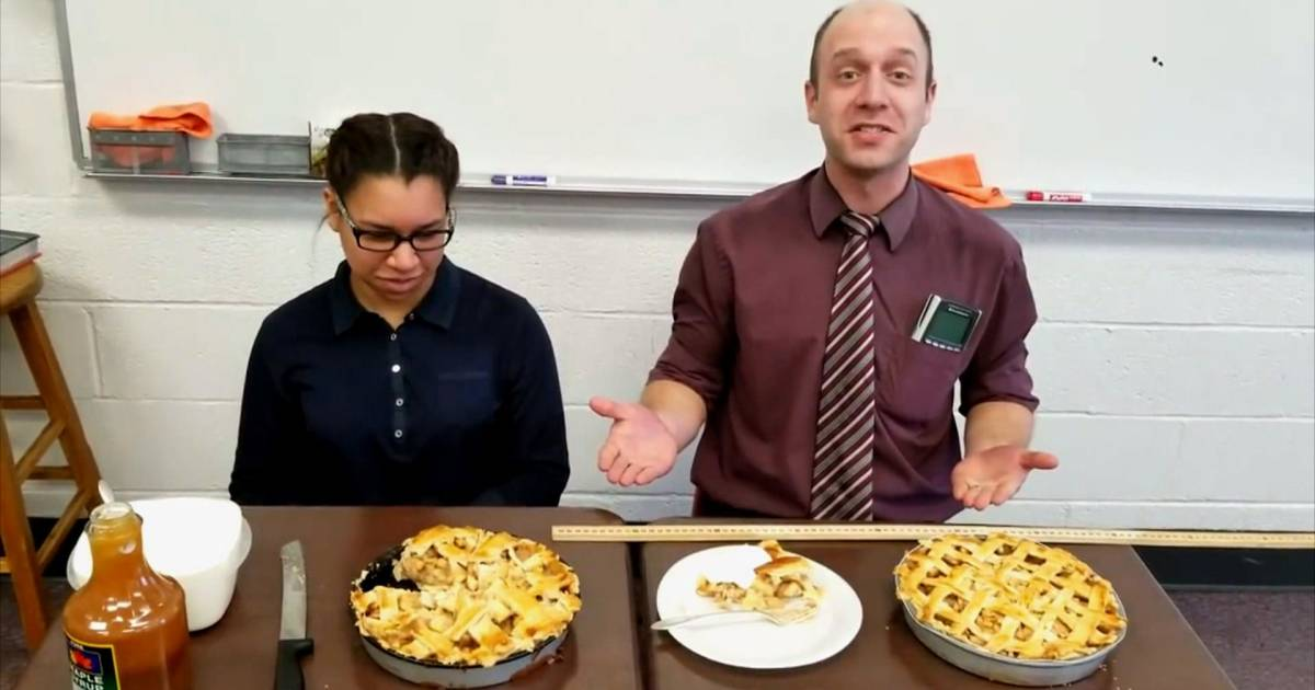 Meet the math teacher who teaches the concept of pi with real pie