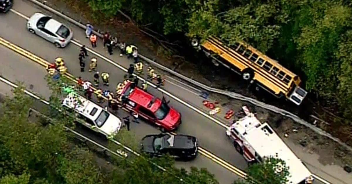 Frightening school bus accident in Pennsylvania injures 6 children