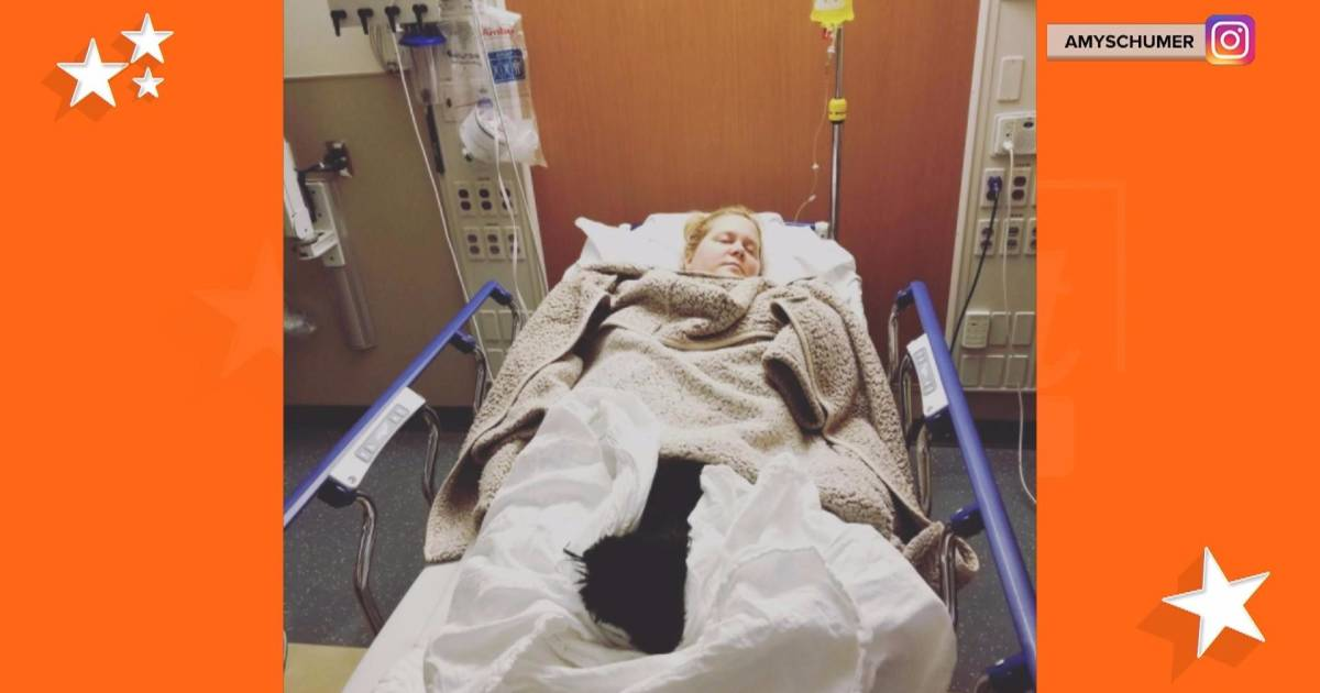 Amy Schumer reveals she's been hospitalized for hyperemesis