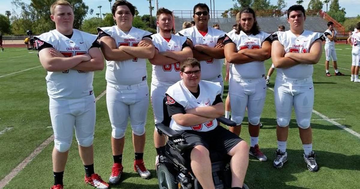 High school football team adds teen with Duchenne muscular ...