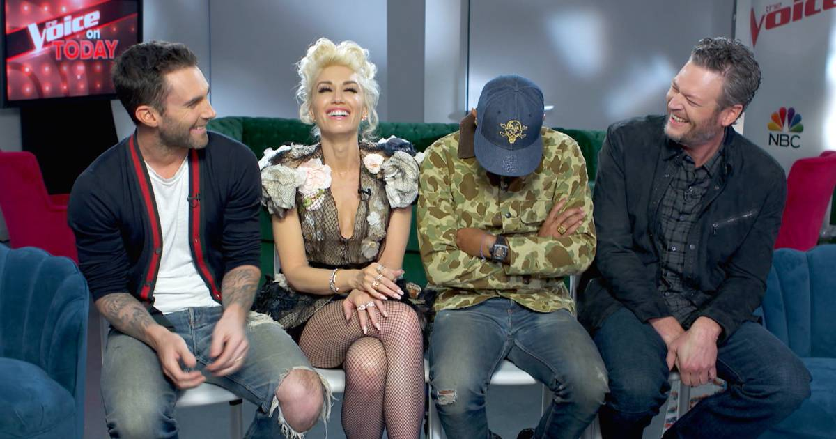 'Voice' coaches dance around topic of Gwen Stefani and Blake Shelton's romance