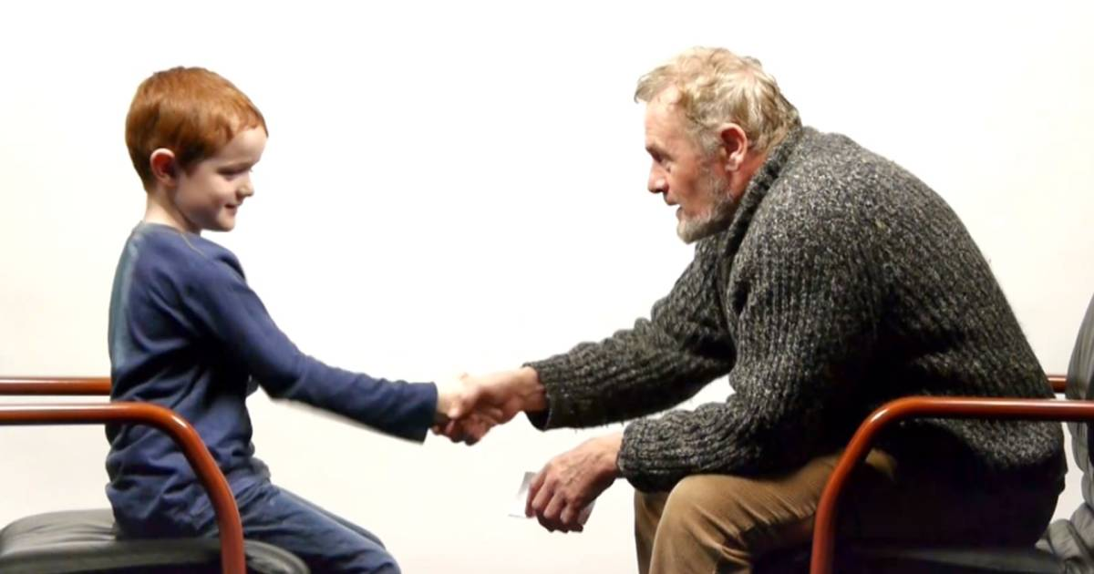 Boy, 7, and man, 64, answer lifes questions in adorable