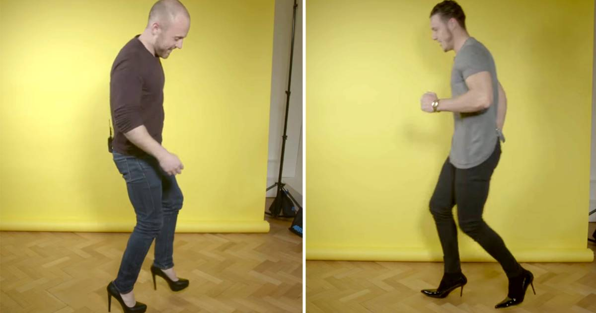 These men tried wearing heels for one day — and failed