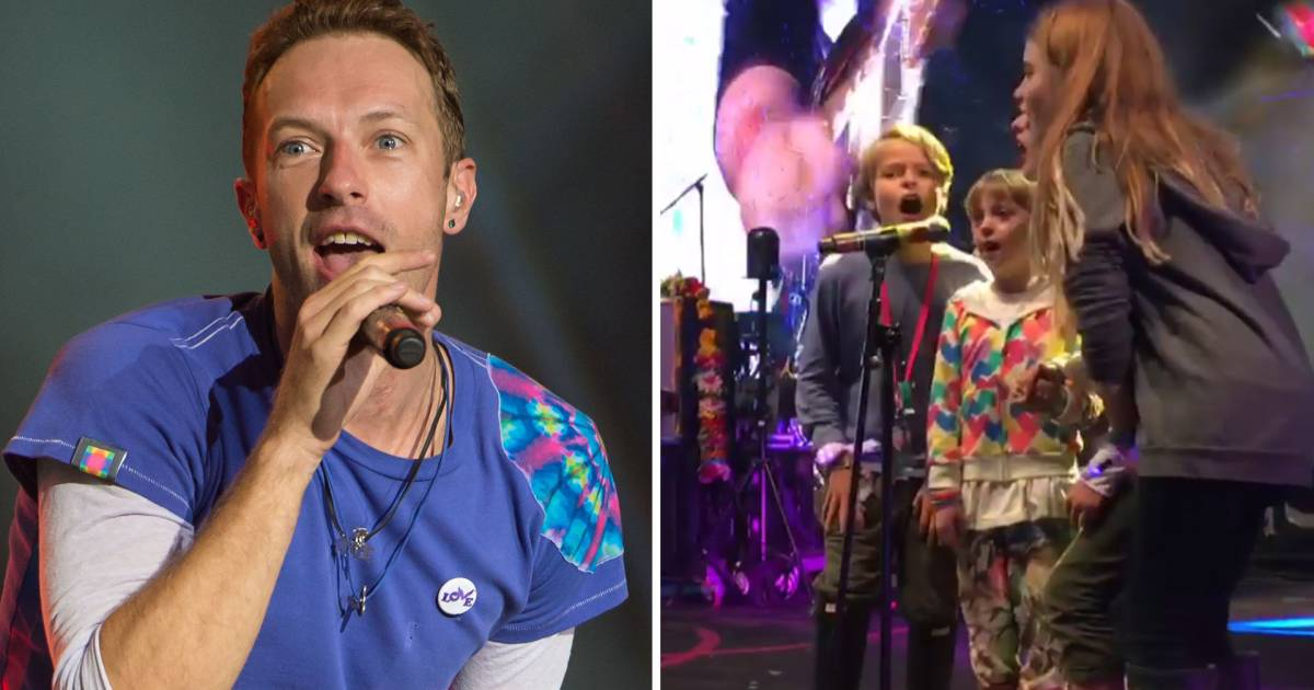 All in the family! See Chris Martin's kids Apple, Moses sing at Coldplay concert