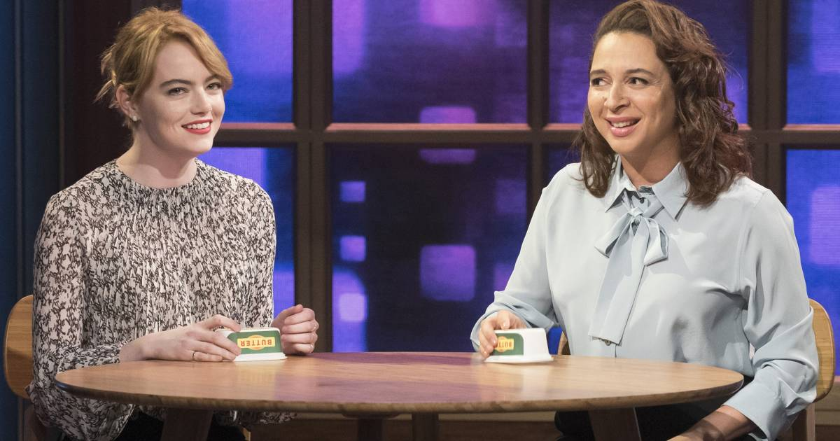 Emma Stone, Maya Rudolph sing beautiful duet with butter tubs on 'Maya & Marty'