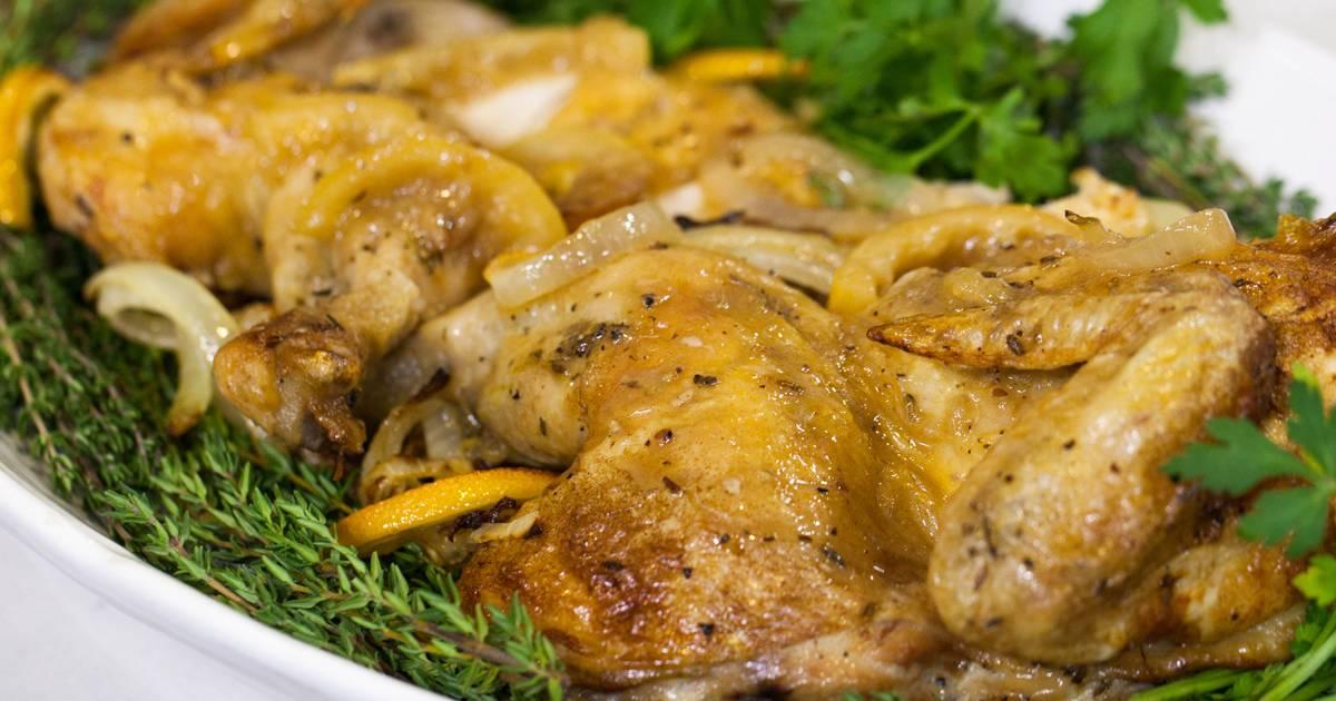 Make Ina Garten's skillet-roasted lemon chicken and roasted broccolini dinner