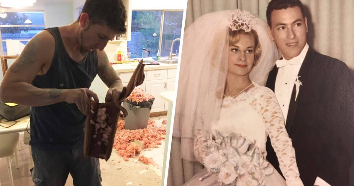Vintage Wedding Dresses Florida: Couple Renovating Home Finds A 54-year-old Wedding Album