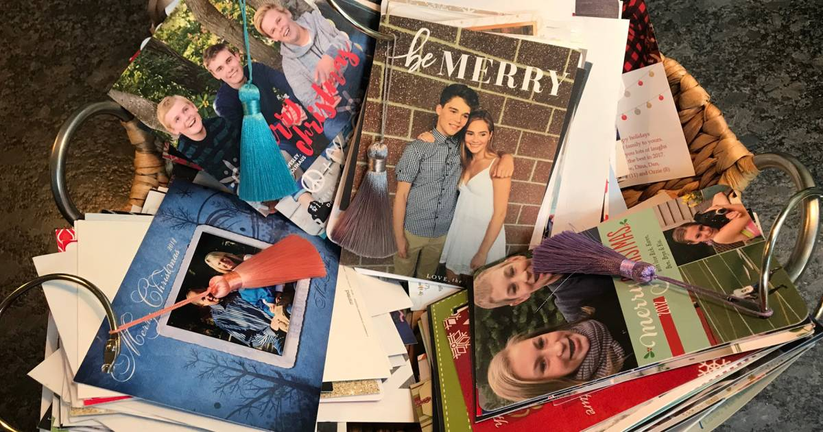 How to save and organize holiday photo cards