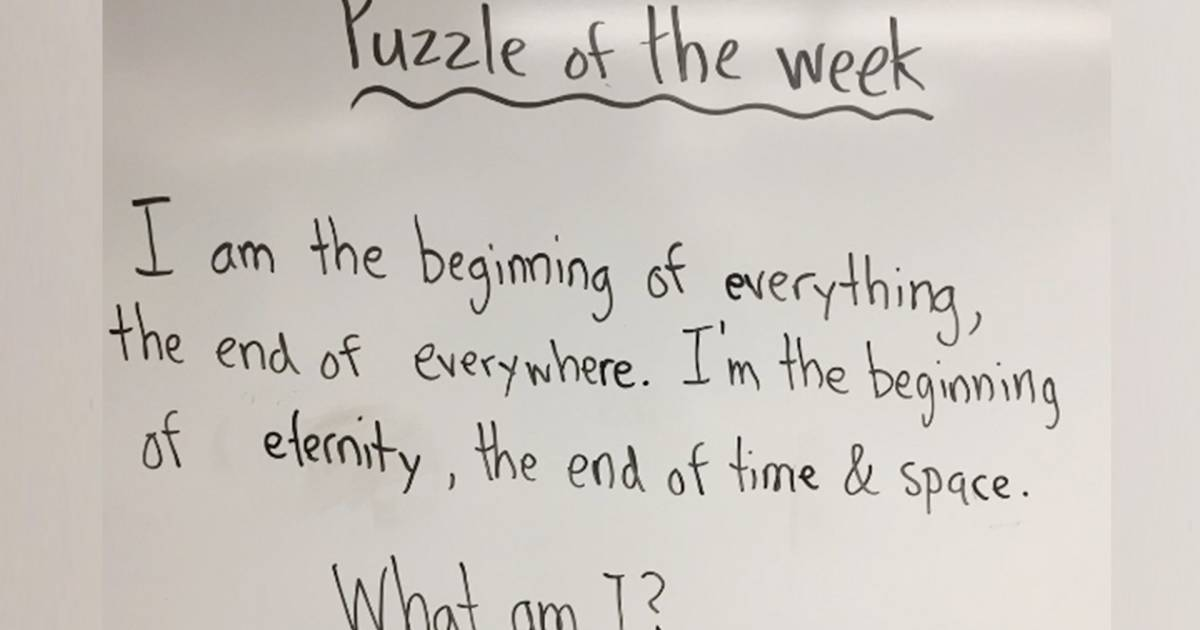 First-grader's answer to his teacher's riddle stuns class and Twitter